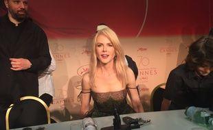 Nicole Kidman à la conférence de presse de Mise à mort d'u cerf sacré de Yorgos Lanthimos