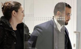 Paris, le 19 février 2019. Alexandre Benalla arrive au palais de justice afin d'être entendu par les juges d'instruction.