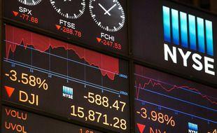 Illustration de la salle des marchés de Wall Street