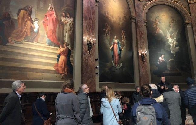 Les tableaux des Evangélistes ont été restaurés.