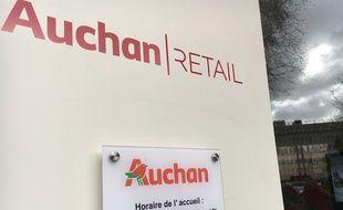 Au siège de la centrale d'achats Auchan, à Villeneuve d'Ascq