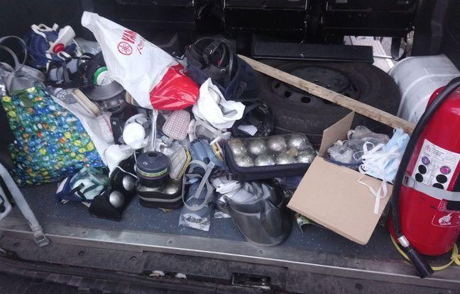 Des objets destinés à servir de projectiles retrouvés en marge de la manifestation du 8 décembre