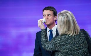 Manuel Valls le 25 janvier lors du débat de la primaire de la gauche.