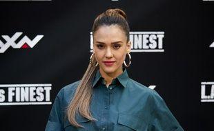 L'actrice Jessica Alba à Madrid