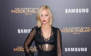 L'actrice Jennifer Lawrence à la première de Hunger Games: The Mocking Jay part 2, à New York.