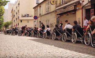 """La """"Mission Roosevelt"""" en 2017 dans les rues de Paris."""