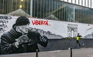 Un graffe sur Christophe Dettinger et le mouvement des