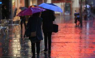 Pluie et vent à Strasbourg en 2016 (Image d'illustration).