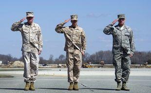 Des Marines américains, le 21 mars 2016, à Temecula. Illustration