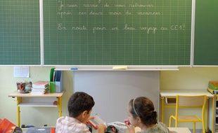 Rentrée des classes 2011. Classe préparatoire école GLIESBERG à Strasbourg. tableau bienvenue CE1