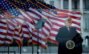 Donald Trump s'exprime devant ses partisans réunis à Washington D.C., le 6 janvier 2021.