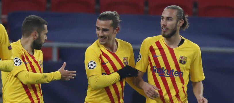 Griezmann et le Barça se sont bien amusés sur la pelouse de Ferencvaros en Ligue des champions, le 2 décembre 2020.