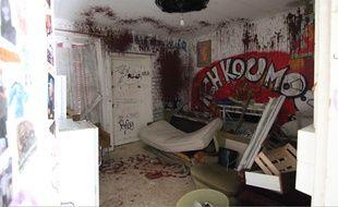L'intérieur de la maison de Maryvonne, squattée pendant des années à Rennes.