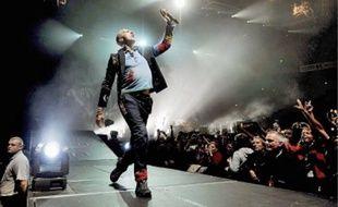 Coldplay, tête d'affiche du festival d'Arras,était hier sur la scène principale.