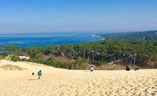 Vue du Bassin d'Arcachon depuis la dune du Pilat