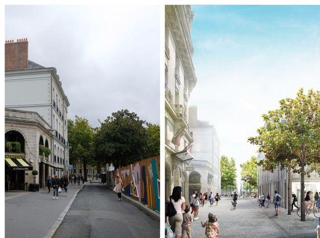Avant/après, depuis la rue du Couëdic