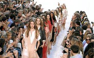 Les grands couturiers présentent leurs collections jusqu'à jeudi (ici, le défilé prêt-à-porter Chloé, en octobre dernier).