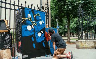 Stom500 x Tomy . Street art dans Strasbourg.