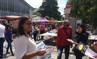 Farida Amrani, candidate France Insoumise dans l'Essonne.