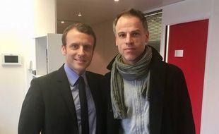 Sébastien Nadot (à droite), candidat du Mdp, renonce à se présenter à l'élection présidentielle et soutient Emmanuel Macron.
