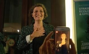Jeanne Baserghian n'a pu cacher son émotion et sa fierté dimanche soir, au moment de fêter son élection.