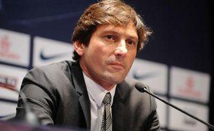 Leonardo lors de la présentation du joueur italien Marco Verratti, le 18 juillet 2012 à Paris.