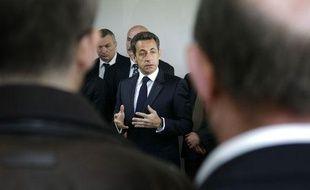 Nicolas Sarkozy à Tremblay-en-France le 20 avril 2010