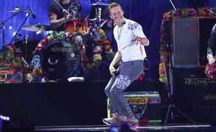 Chris Martin lors d'un concert de Coldplay à Las Vegas en 2017.