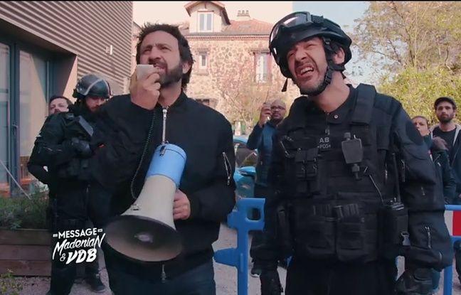 Mathieu Madenian (à gauche) et Thomas VDB (à droite) dans leur pastille humoristique «Le message de Madénian et VDB», lundi soir sur W9.