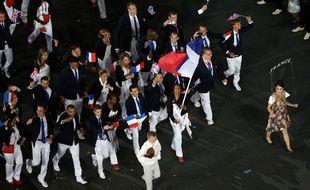 La délégation française au Jeux Olympiques de Londres en 2012.