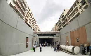 La rampe qui fera le lien entre la surface et le souterrain, rue de France