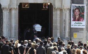 Les funérailles de Laëtitia Perrais, le 25 juin 2011, à La Bernerie-en-Retz.