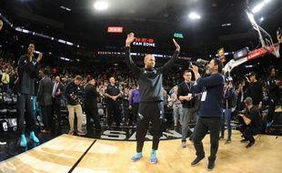Tony Parker a reçu un bel hommage lors de son retour à San Antonio, le 14 janvier 2019.