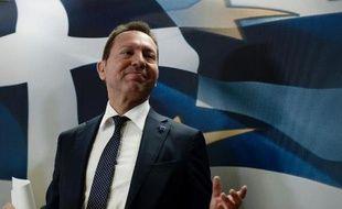 Le ministre grec des Finances Yannis Stournaras, à Athènes le 10 avril 2014