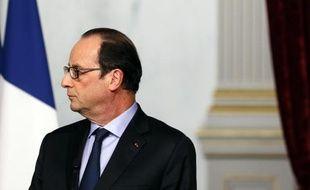 Le président français François Hollande à Paris le 13 novembre 2014