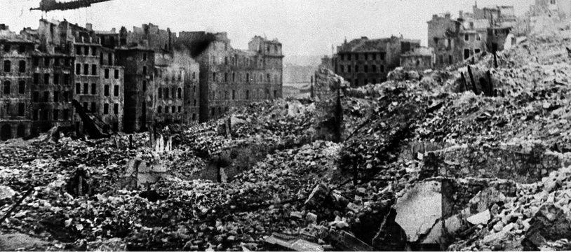 Le quartier du Vieux-Port à Marseille, entièrement détruit lors de l'occupation nazie.