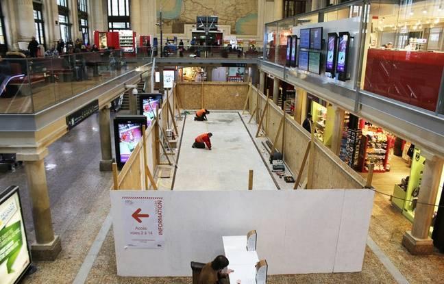 Le 10 janvier 2017, les travaux en sous-sol du hall 1 de la gare Saint-Jean de Bordeaux doivent être bientôt achevés