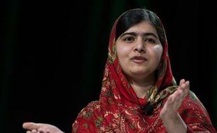 La lauréate du prix Nobel de la paix, Malala Yousafzai, le 21 octobre 2014 à Philadelphie, aux Etats-Unis