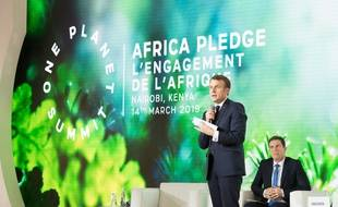 Emmanuel Macron au One Plannet Summit, à Nairobi (archives).