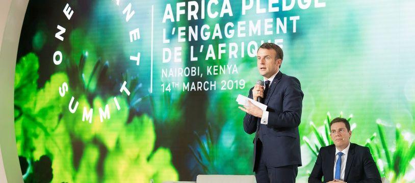 Emmanuel Macron au One Plannet Summit, à Nairobi (archives).