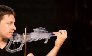 Le violon électrique imprimé en 3D par les Toulousains de 3DVarius.