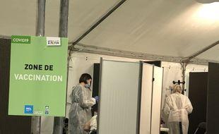 En janvier 2021 au centre de vaccination contre le Covid-19 de Gerland à Lyon.