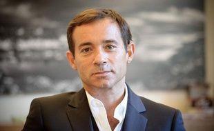 Paris, le 05 Septembre 2011. Jean Luc Delarue dans les locaux de réservoir pro sa maison de production.
