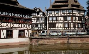 Maison Alsacienne dans la Petite France Strasbourg. Le 24 05 07