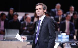 David Pujadas sur le plateau de «L'Emission politique».