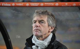 Christian Gourcuff, l'entraîneur de Lorient, le 30 novembre 2013 au stade du Moustoir.
