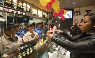 Un fast-food à New York en 2011.