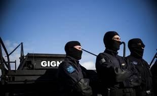 Des membres du GIGN (Groupement d'intervention de la gendarmerie nationale). Illustration