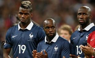 Les Français Pogba, Diarra et Mangala, le 17 novembre 2015 à Wembley.