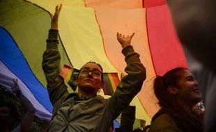 Le drapeau LGBT.